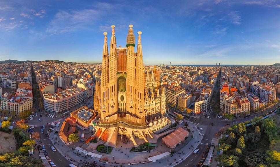 Испания, Барселона, вид на город