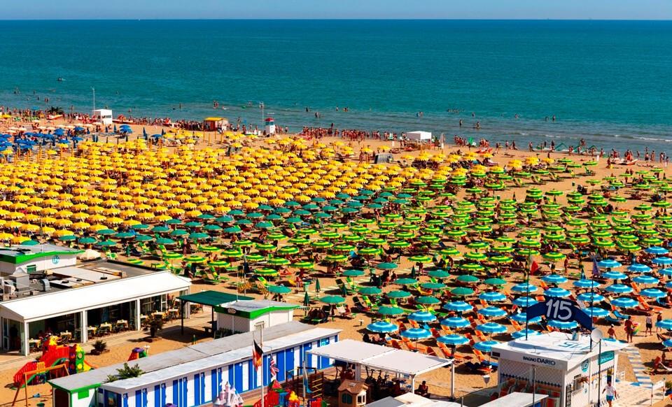 Италия, Римини пляж
