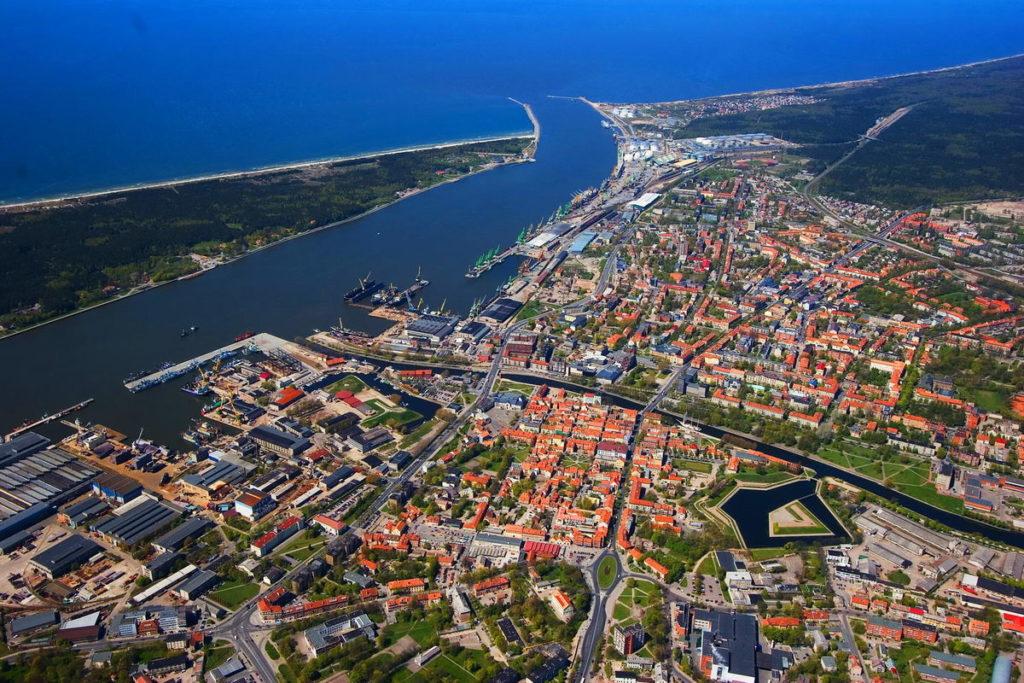Литва, Клайпеда, вид сверху