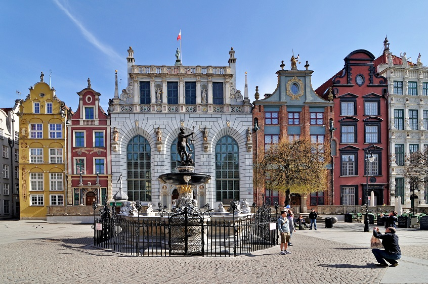 Польша, Гданьск, фонтан Нептуна