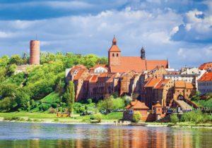 Польша, Грудзендз, вид с реки