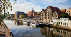 Польша,Быдгощ, Переходящий через реку 1