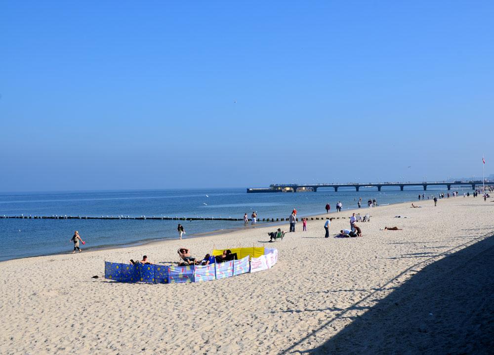 Польша, Колобжег, пляж