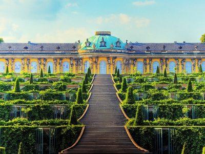 Германия, Потсдам, дворец Сан-Суи