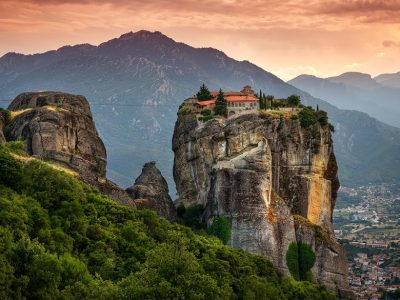 Греция. Монастырский комплекс Метеоры