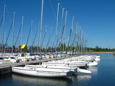 Польша, Вилькасы, Академический спортивный центр AZS COSA, притань яхт