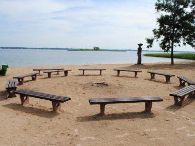 Польша, Вилькасы, пляж озера Негочин